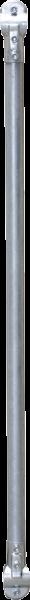 Gitterstab d = 48,3 mm, Länge 1,47 m, mit 2 verstärkten T-Schellen (341213) zum Pferde-Fressgitter m