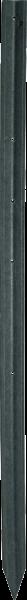 120 Stk. Kreuzprofil-Pfahl, Länge 1,5 m, 7x7 cm