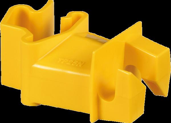 25 Stk. Standard-Isolator für T-Pfosten, gelb, für Drähte, Litzen und Seile bis 6 mm