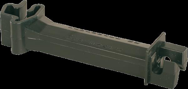 25 Stk. Abstand-Isolator für T-Pfosten, schwarz, für Draht, Litzen und Seile