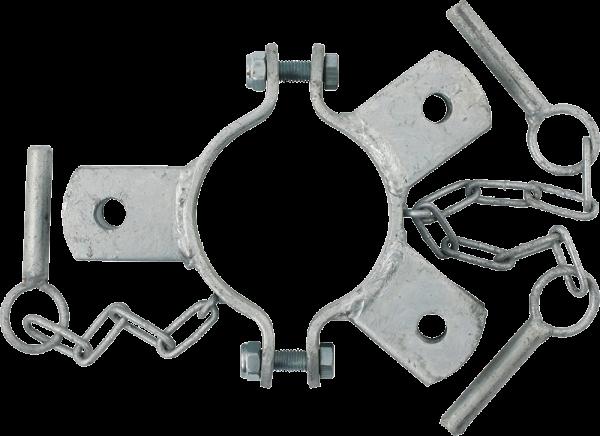 Schelle 102 mm, 3 Halter, mittig