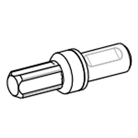 1 Stk. Wechseldüse O, Drucklos 0 - 1 bar, für Zungenbecken Forstal, La Buvette