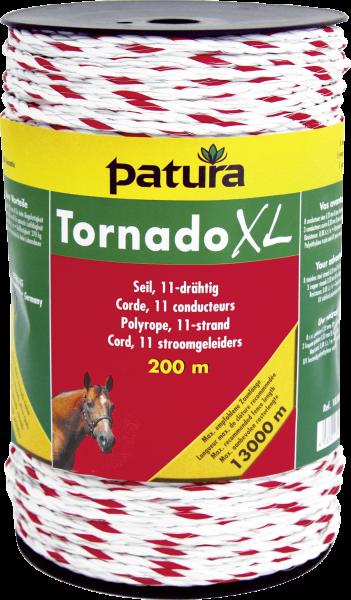 200 m Tornado XL Seil, 0,08 Ohm/m, 8xEdelstahl-, 3xKupferleiter, weiss-rot
