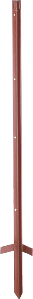 10 Stk. 1,20 m Winkelstahlpfahl, 3 mm stark, lackiert, mit Trittfuß