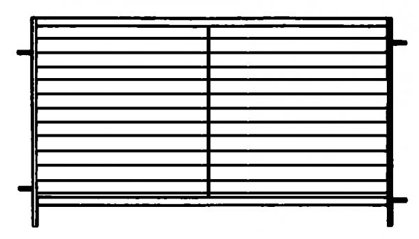 Horde blechverkleidet, Länge 1,37 m, Höhe 0,91 m