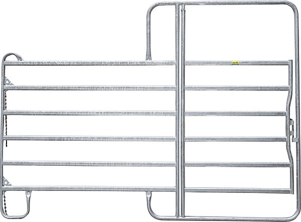 Panel Compact mit Tor, Länge 3,60 m, Höhe 2,20 m