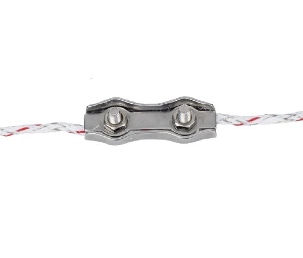 5 Stk. Litzenverbinder doppelt, Edelstahl, für Litzen bis 3,5 mm