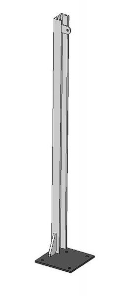 U-Profil 65x42x5,5mm, L= 1,20 m, mit Bodenplatte links, vz