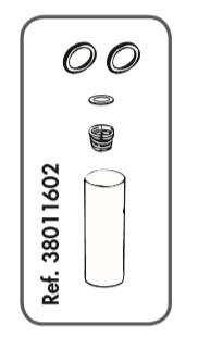 """Reparatur-Set für Rohrventil-Becken Compact Edelstahl 1/2"""""""