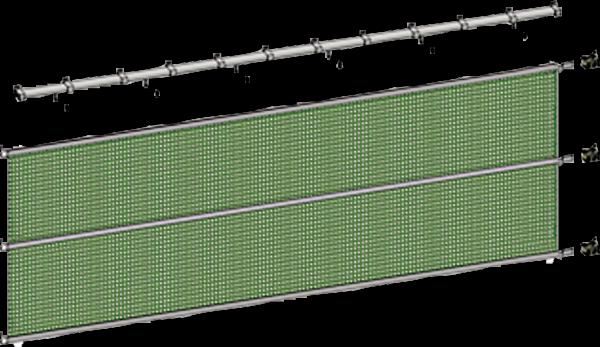 Laufschienensatz; Breite 9 m