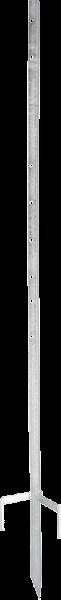 bis 135 cm Zaunhöhe, Metalleckpfahl Super, stabiler Eckpfahl, für mobile Zäune