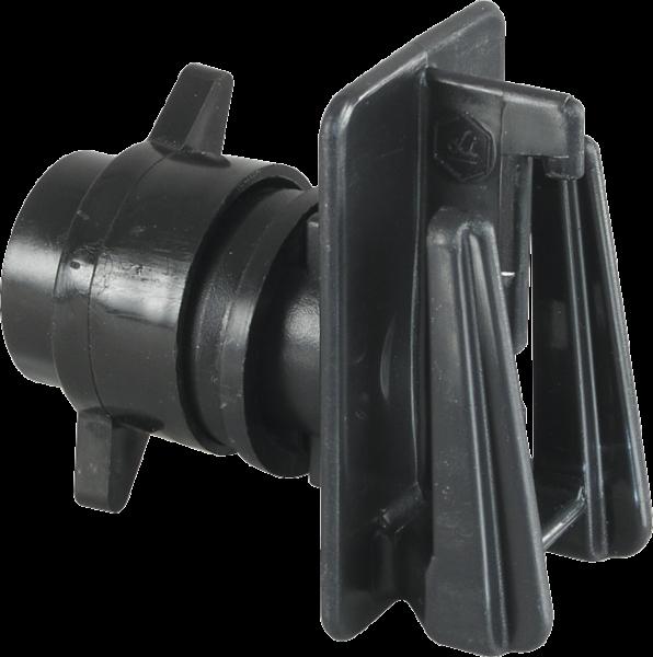 10 Stk. Schraub-Breitbandisolator für Pfähle bis 12 mm, für Band bis 40 mm