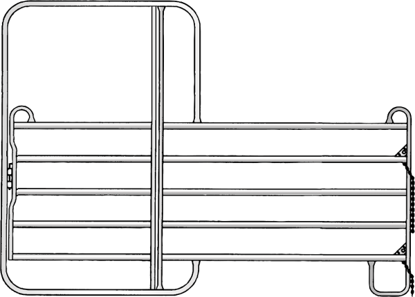 Panel-5 mit Tor, Länge 3,00 m, Höhe 2,20 m