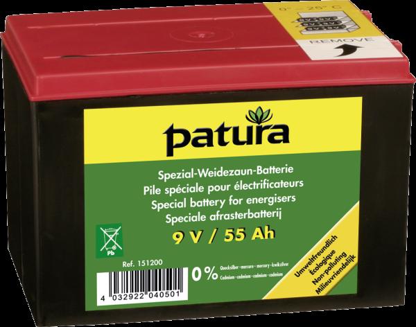 9 V / 55 Ah Spezial Weidezaun-Batterie
