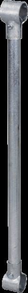 """Zusatzstange mit 2 T-Schellen, 1 1/2"""" X 1 1/4"""" f. Verlängerung Freßgitter, vz"""