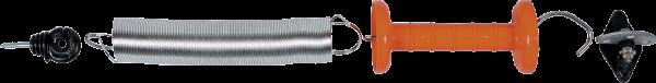 Torspannfederset Edelstahl, bis 5 m Breite, mit 3-fach Torgriffisolator