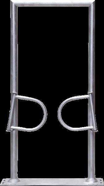 Ein-Wege-Tor 2-flüglig, mit Rahmen