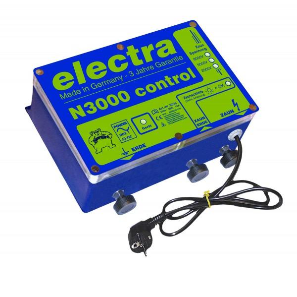 compact N3000 control, Weidezaungerät für 230 V, mit Zaunschleifenkontrolle