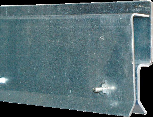 Klemmprofil, Front-Montage,für Streifenvorhang, Länge 2 x 1,6 m