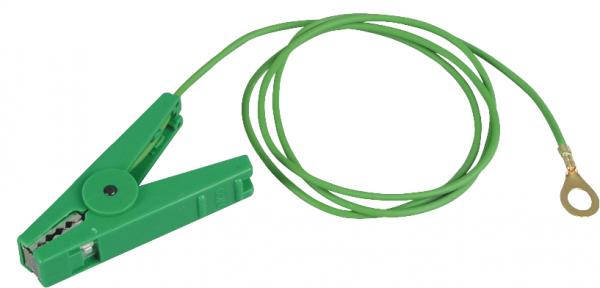 Erdanschlußkabel, 8 mm Ringöse, grün, isolierte Edelstahlklemme