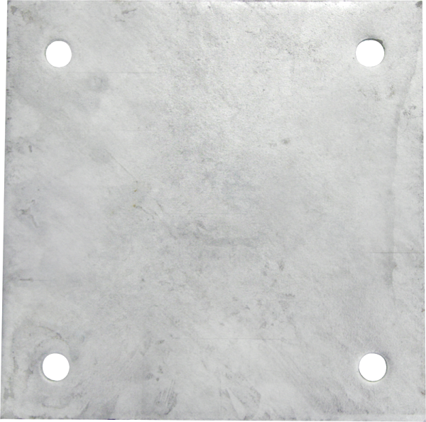 Gegenplatte 200x200x8mm, verzinkt