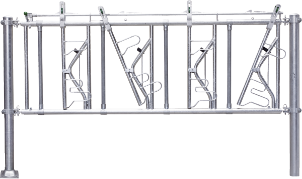 Sicherheits-Selbstfangfressgitter SSV 6/4, 6 Fressplätze, Nennlänge 400 cm