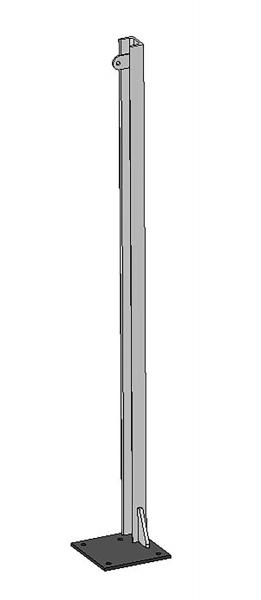 U-Profil 65x42x5,5mm, L=1,45 m mit Bodenplatte rechts, vz