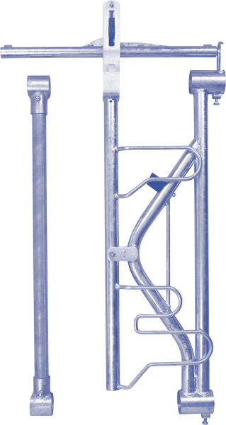 Freßplatz SSV Modular mit Fangbügel und Zwischenstange mit Schellen