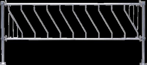 Kälber-Schrägfressgitter, 7 Plätze, 2,5 m