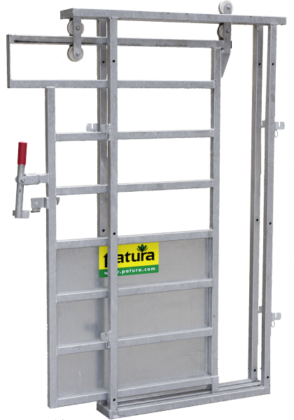 Rahmen mit Schiebetür XL, Breite 1,18 m, Höhe 2,08, lichte Durchgangsbreite 85 cm