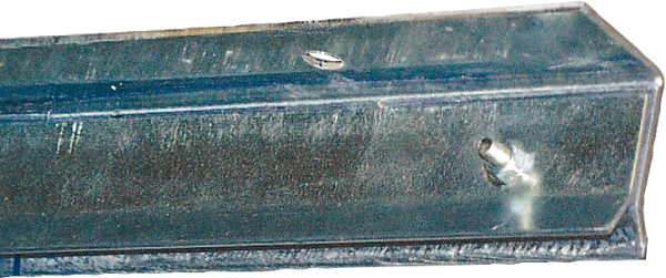 Klemmprofil, Unteen-Montage, für Streifenvorhang, Länge 1,98 m