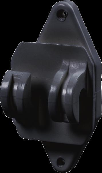 25 Stk. Festzaun-Isolator, schwarz, für Seil und HippoWire