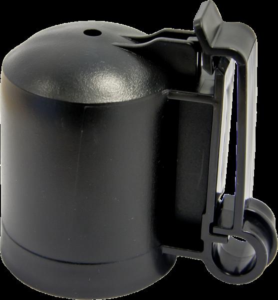 10 Stk. Kappenisolator für T-Pfosten, schwarz, für Drähte, Litzen, Seile und Bänder bis 40 mm