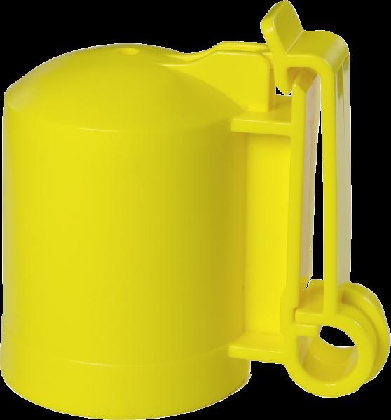 200 Stk. Kappenisolator für T-Pfosten, gelb, für Drähte, Litzen, Seile und Bänder bis 40 mm