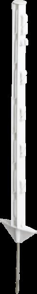 10 Stk. 0,73 m Kunststoffpfahl, 5 Drahthalter