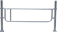 Abtrennung R2LB(4/5), Höhe = 60 cm, Montagelänge 370 - 450 cm