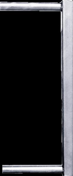 Abschlussrohr 45 x 45 mm für Kälberfressgitter