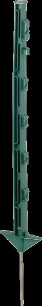 10 Stk. 0,73 m Kunststoffpfahl, grün, 5 Drahthalter