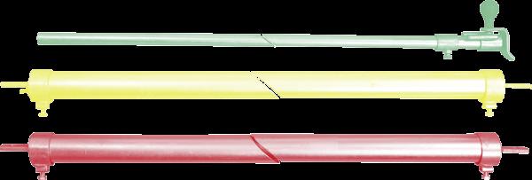 Trägerrohre (1 Paar) mit Verriegelungsrohr und Mittelstütze, Nennlänge 4 m