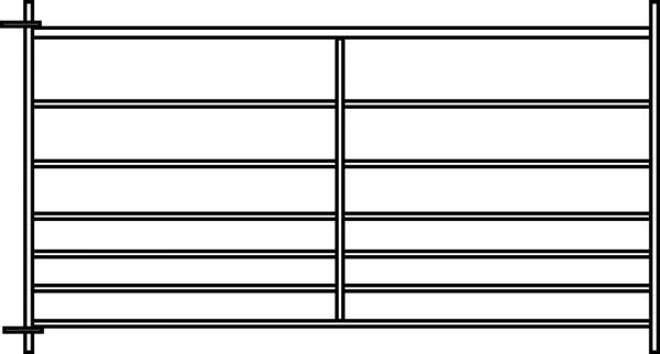 Steckfix-Horde, Länge 1,83 m, Höhe 0,92 m