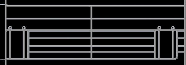 Steckfox-Horde mit doppeltem Lämmerschlupf, Länge 2,75 m, Höhe 0,92 m