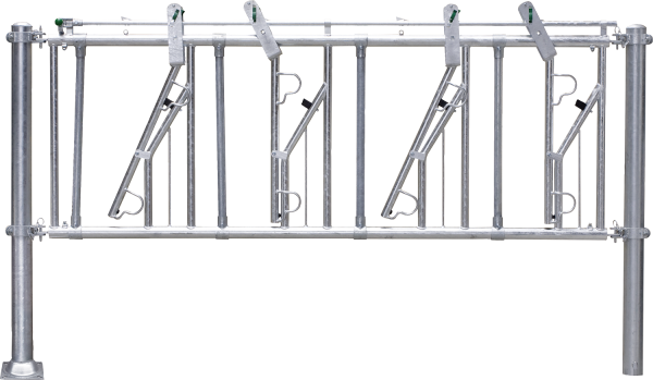 Selbstfangfreßgitter SV 2/1,6, 2 Fressplätze, Nennlänge 160 cm