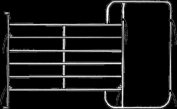 Panel mit Rahmen, Breite 3,05 m, Höhe 2,10