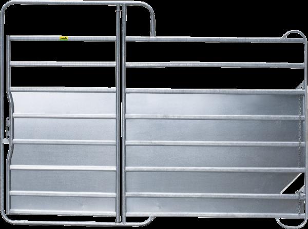 Panel-8 Plus mit Tor, Länge 3,00 m, Höhe 2,20 m, mit Blechverkleidung