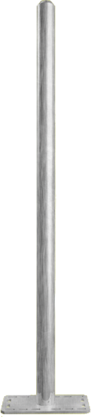 Pfosten 76, Länge 1,65 m, mit Bodenplatte