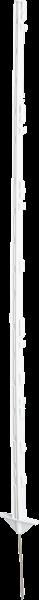 10 Stk. 1,55 m Kunststoffpfahl, 8 Draht- + 3 Seilhalter, doppelte Trittstufe, Eisenspitze