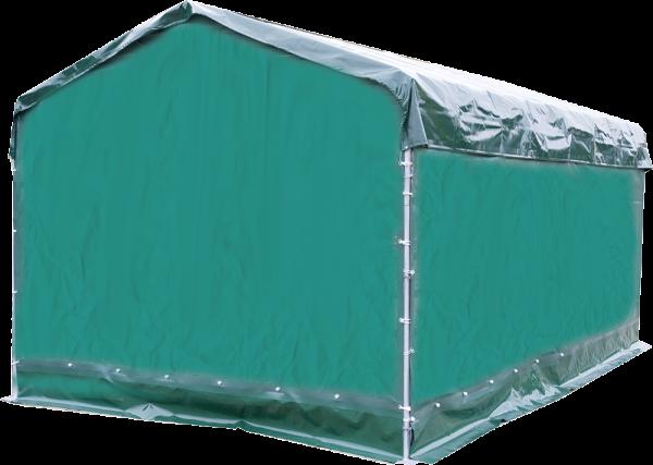 Wetterschutzplane für Panel-Dach, Giebelseite