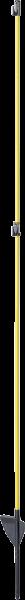 10 Stk. Oval-Glasfiberpfahl, 1,60 m, mit Trittstufe, durchgehende Glasfaserspitze