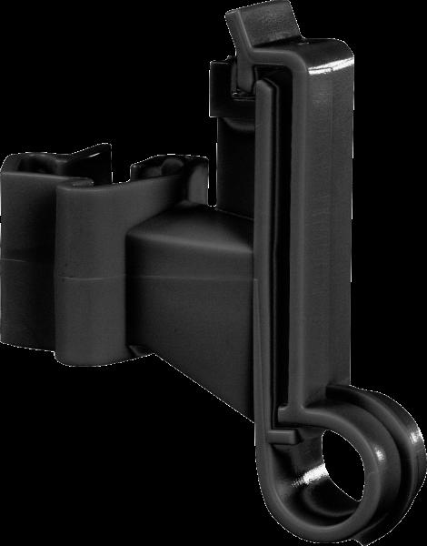 500 Stk. Breitband-Isolator für T-Pfosten, für Breitbänder bis 40 mm, schwarz