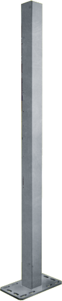 Pfosten 90 mm, Länge 1,65 m, mit Bodenplatte für Spaltenboden